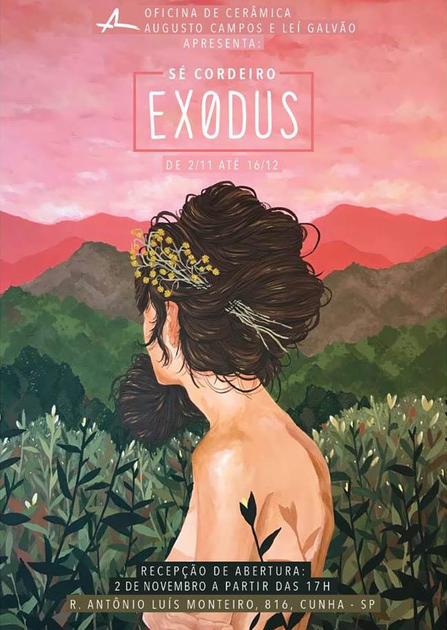 Folder Exposição Exodus - Oficina de Cerâmica - Cunha / São Paulo